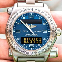Breitling Emergency pre-owned 43mm Blue Date Titanium