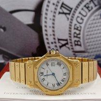 Cartier Желтое золото Автоподзавод Белый Римские 30mm подержанные Santos (submodel)