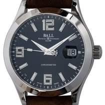 Ball Engineer II pre-owned 40mm Black Date Leather