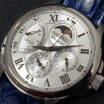 Seiko Premier Kinetic Direct Drive Steel 42mm Silver Roman numerals