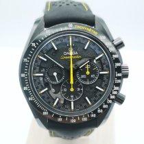 Omega Углерод Автоподзавод Черный Без цифр 44.25mm подержанные Speedmaster Professional Moonwatch
