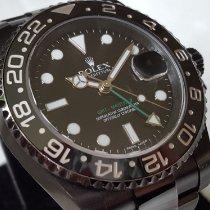 Rolex GMT-Master II Staal 40mm Zwart Geen cijfers
