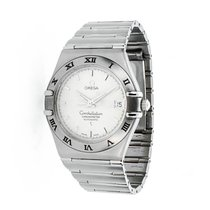 Omega Constellation pre-owned 35.5mm Champagne Date Steel