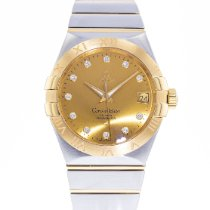 Omega Constellation Men pre-owned 38mm Gold Date Gold/Steel