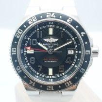 Breitling Superocean GMT Сталь 41mm Черный Aрабские