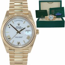 Rolex Day-Date 40 Yellow gold 40mm White Roman numerals United States of America, New York, Huntington