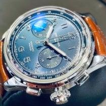 Breitling Duograph Сталь 42mm Синий Aрабские