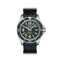 Breitling Superocean 44 Steel 44mm Green Arabic numerals
