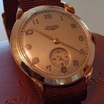 Longines Rose gold Manual winding Gold Arabic numerals 35mm pre-owned