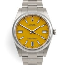 Rolex Oyster Perpetual Steel 41mm Yellow No numerals United Kingdom, London