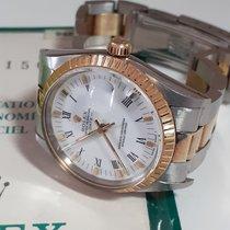 Rolex Oyster Perpetual Date Złoto/Stal 34mm Biały Rzymskie