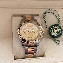Rolex Daytona Acero y oro 40mm Champán Sin cifras