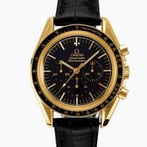 Omega Oro amarillo Cuerda manual Negro usados Speedmaster Professional Moonwatch