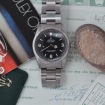 Rolex Explorer Сталь 36mm Черный Aрабские