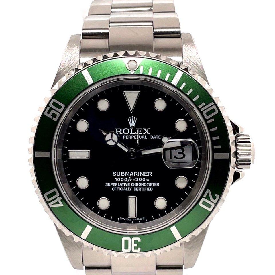 Rolex Submariner Date 16610LV Kermit 2005 folosit