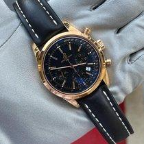 Breitling Pозовое золото Автоподзавод Черный 43mm новые Transocean Chronograph