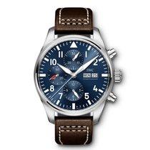 IWC Pilot Chronograph Acciaio 43mm Blu Arabi Italia, torino