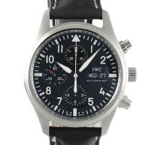 IWC Pilot Chronograph Çelik 42mm Siyah