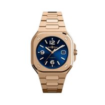 Bell & Ross Rose gold Automatic Blue 40mm new BR 05