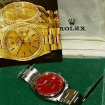 Rolex Oyster Precision Çelik 34mm Kırmızı Rakamsız Türkiye, istanbul