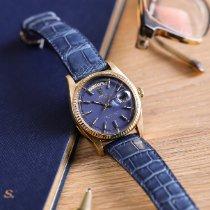 Rolex Day-Date 36 Gelbgold 36mm Blau Keine Ziffern Schweiz, Zermatt