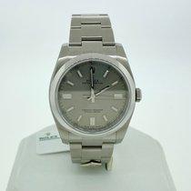 Rolex Oyster Perpetual 36 Stahl 36mm Grau Arabisch