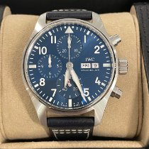 IWC Pilot Chronograph Steel 41mm Blue Arabic numerals United States of America, New York, NY