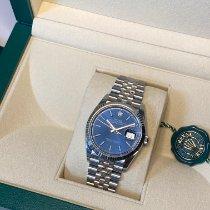 Rolex Datejust Staal 36mm Blauw Geen cijfers Nederland, Amsterdam