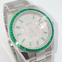 Rolex ny Automatisk Centrumsekundvisare Ädelstens- och diamantbesatta Kronometer Skruvad krona Quick set 41mm Stål Safirglas