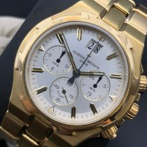 Vacheron Constantin Overseas Chronograph pre-owned 40mm Silver Chronograph Date Yellow gold