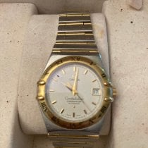 Omega Constellation pre-owned 36mm White Date Gold/Steel