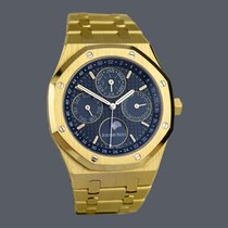 Audemars Piguet Желтое золото Автоподзавод Синий 41mm подержанные Royal Oak Perpetual Calendar
