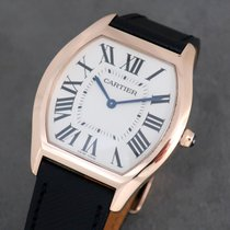 Cartier Rose gold Manual winding Silver pre-owned Tortue