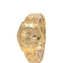 Rolex Lady-Datejust Pearlmaster Yellow gold 29mm Champagne United States of America, New York, Hartsdale