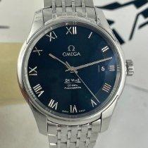 Omega De Ville Co-Axial Steel 41mm Black Roman numerals