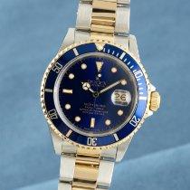 Rolex 16613 Gold/Stahl 1989 Submariner Date 40mm gebraucht Deutschland, Chemnitz