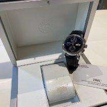 IWC Portofino Chronograph Сталь 41mm Черный Без цифр