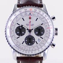 Breitling Navitimer 1 B01 Chronograph 43 usados 43mm Plata Cronógrafo Fecha Piel