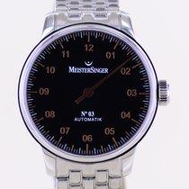 Meistersinger N° 03 Steel 43mm Black Arabic numerals