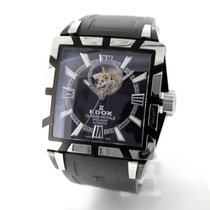 Edox pre-owned Automatic 45mm Black Sapphire crystal 5 ATM