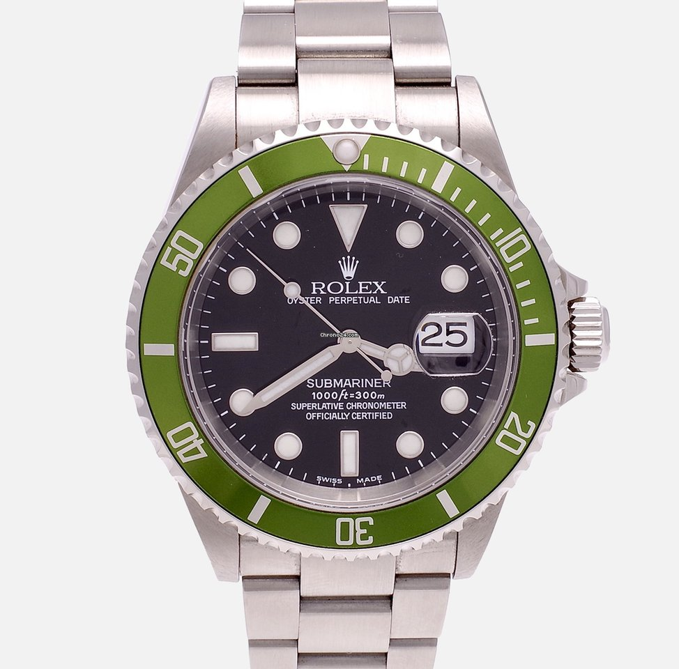 Rolex Submariner Date 16610LV Kermit 2003 usados