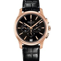 Zenith Rose gold 42mm Automatic 18.2112.400/23.C493 pre-owned