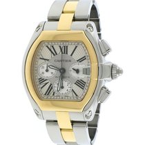 Cartier Roadster W62027Z1 Very good Gold/Steel 40mm Automatic