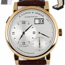 A. Lange & Söhne Rose gold Manual winding Silver Roman numerals 38.5mm pre-owned Lange 1