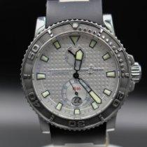 Ulysse Nardin Maxi Marine Diver gebraucht 42.7mm Weiß Datum Kautschuk