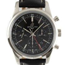 Breitling Transocean Chronograph GMT Acero 43mm Negro