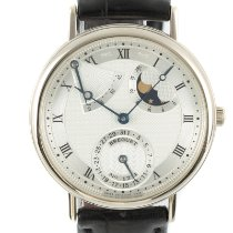Breguet White gold Automatic Silver 36mm pre-owned Classique