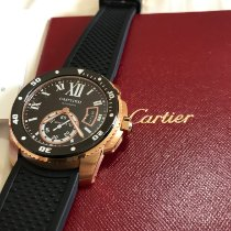 Cartier Calibre de Cartier Diver W7100052 Muito bom Ouro rosa 42mm Automático Brasil, Sao Paulo