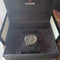 Tudor Fastrider Black Shield pre-owned Black Chronograph Date Leather