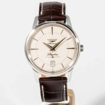 Longines Flagship Heritage Steel 38.5mm Silver No numerals United States of America, Massachusetts, Boston